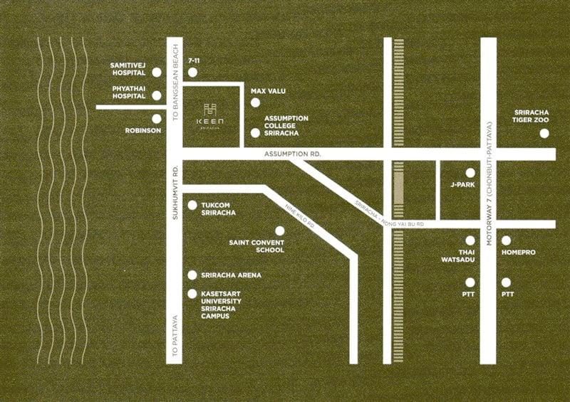 Keen Sriracha 地図